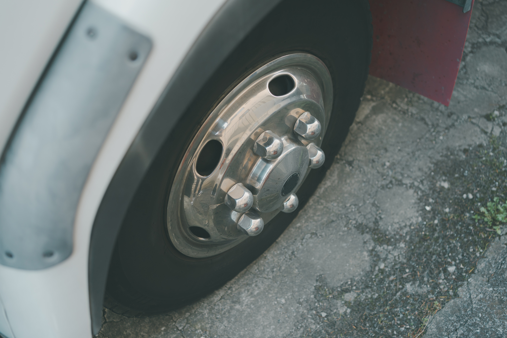 タイヤのアップ画像